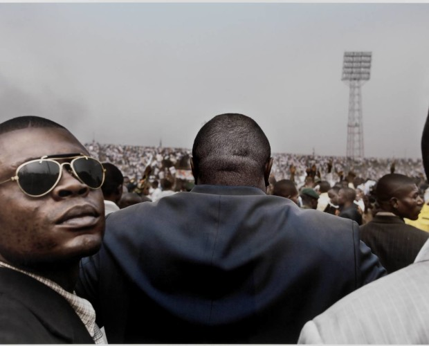 Jean-Pierre Bemba, presidential candidate, enters a stadium in central Kinshasa flanked by his bodyguards, July 2006 2006 by Guy Tillim born 1962